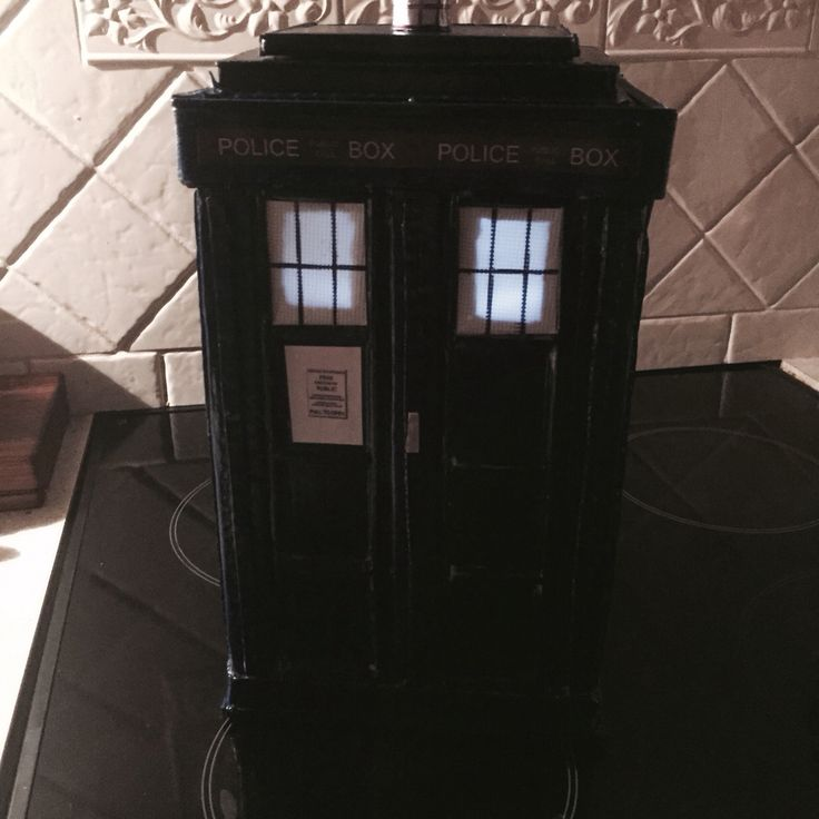 I made a Tardis!! All cardboard and paddle pop sticks - but it lights up inside and my 11 year old LOVED it!! Mod Podge all over so I hope it'll last for a few years.