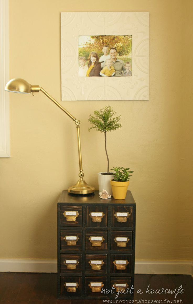 How to build a card catalog side table! #DIY - this would be perfect for a shoe rack... <3 it!
