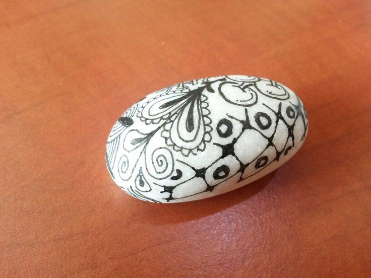 Zentangle kamínek