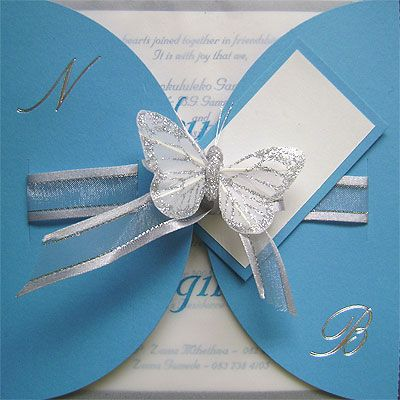 Ref Kgaogelo Pacific ( we can do any colour) www.weddingcards.co.za
