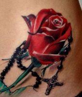tatuaże róże 83575