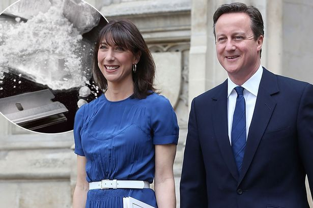 David Cameron and wife 'attended cocaine party where celebs openly passed around class A drug' - Mirror Online