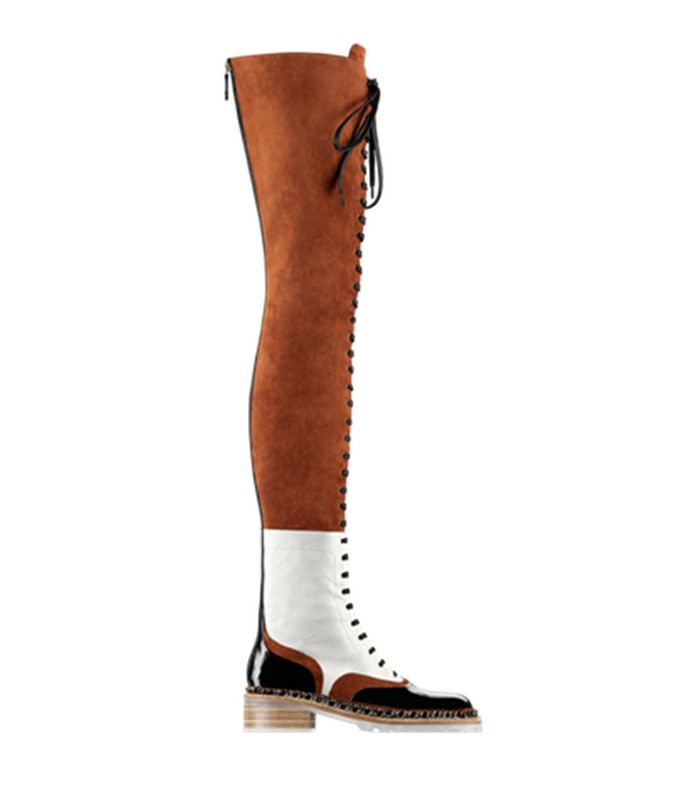 114.53$  Know more  -  designer brown suede leather lace-up thigh high boots autumn winter women color block flat over the knee motorcycle boots