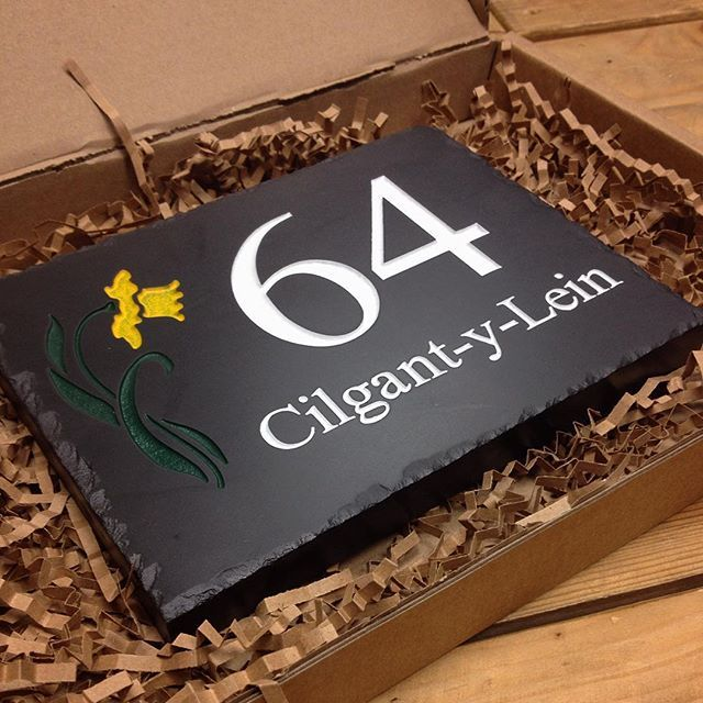 45 best welsh slate house signs images on pinterest home for Design your own house sign