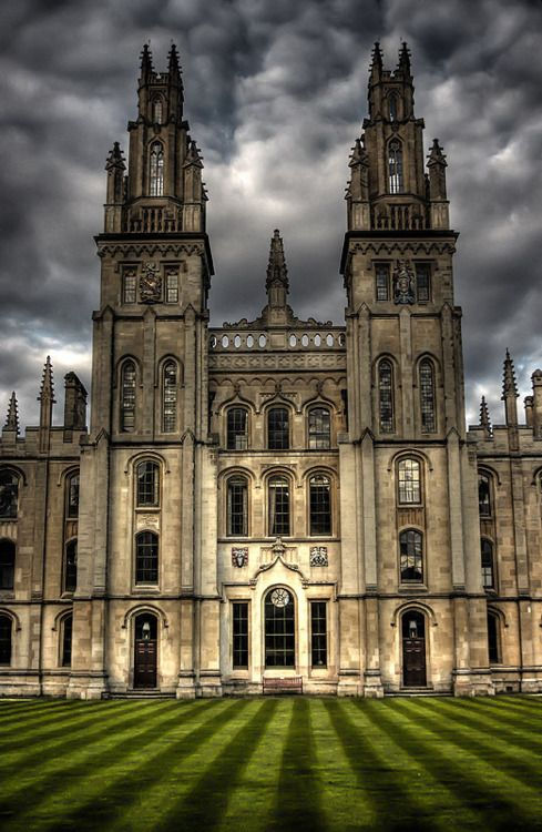U.K. Two Towers, All Souls College, Oxford University, Oxford, England  // by Photomorgana