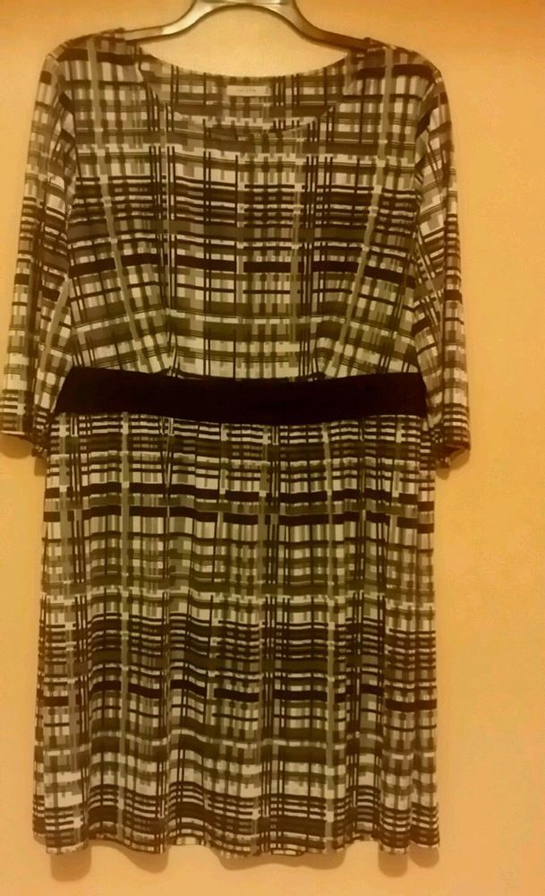 Triste Womens Dress in Grey, Black and White Color Size 3X #Triste #dress #Anytime