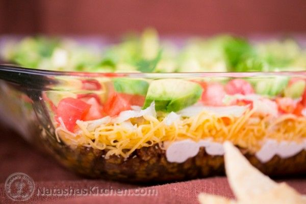 Taco Salad Dip Recipe. Easy, excellent dish for your New Year's shindig! ;)