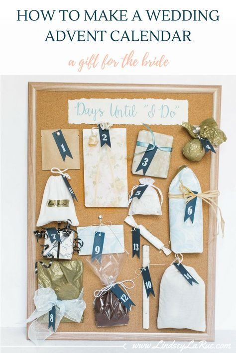 How to DIY a Wedding Advent Calendar