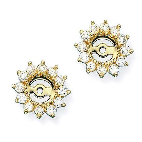 14K Yellow Gold 1 ct. Diamond Earring Jackets Katarina. $1050.00