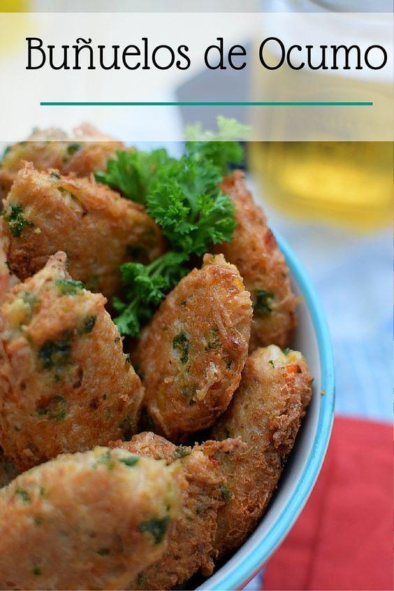 Estos buñuelos de ocumo pueden servirse como aperitivos, o acompañantes de algún plato principal; también puede presentarlos con alguna salsa o dip de su preferencia.
