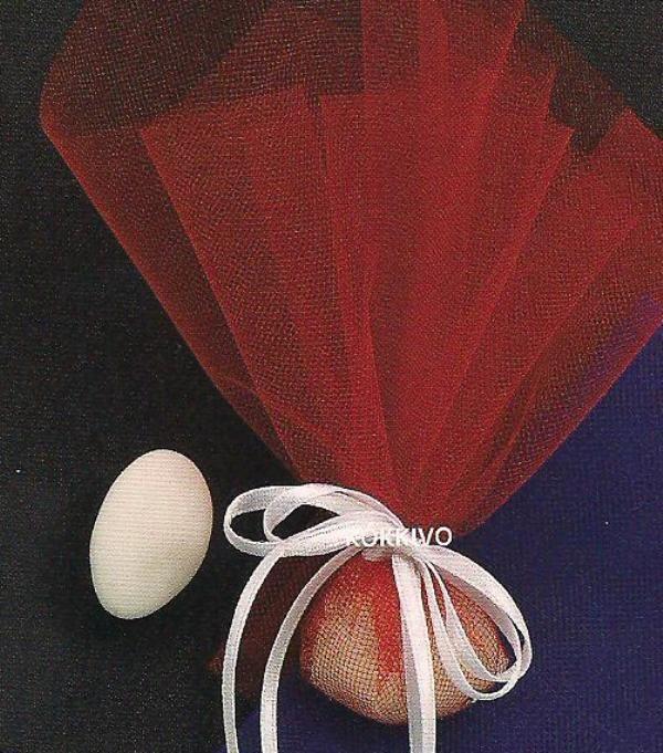 Μπομπονιέρα γάμου κόκκινη, διατίθεται σε δύο χρώματα κόκκινο και μπλέ marine. 0,65 €