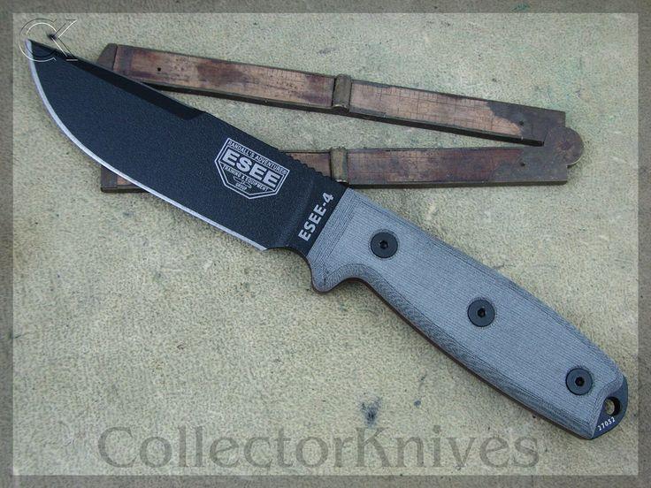 CollectorKnives - ESEE Model 4 Plain RAT Sharpened Back Edge, Black Micarta Handles, 1095 steel, $72.95 (http://www.collectorknives.net/esee-model-4-plain-rat-sharpened-back-edge-black-micarta-handles-1095-steel/)