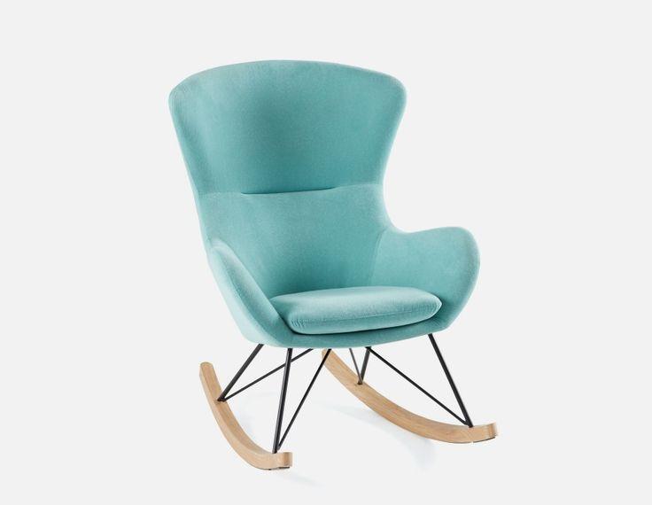 BENNET - Rocking Chair - Light Blue
