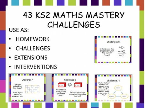 43 ks2 mastery maths challenges