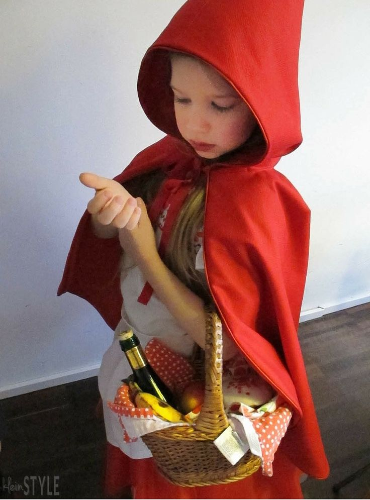 Little Red Riding Hood kids Costume for carnival or ahlloween | Rotkäppchen kinder Kostüm |  via http://kleinstyle.com