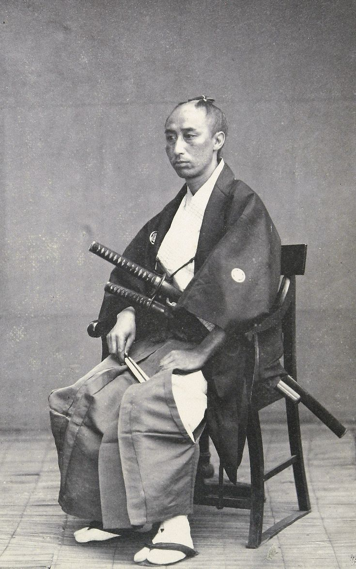thekimonogallery:Photograph of Japanese Officer 1861, Japan. This is a rare early photograph, taken at a time when the feudal samurai system in Japan was still active. Smithsonian Institution, Freer Gallery of Art and Arthur M. Sackler Gallery Archives