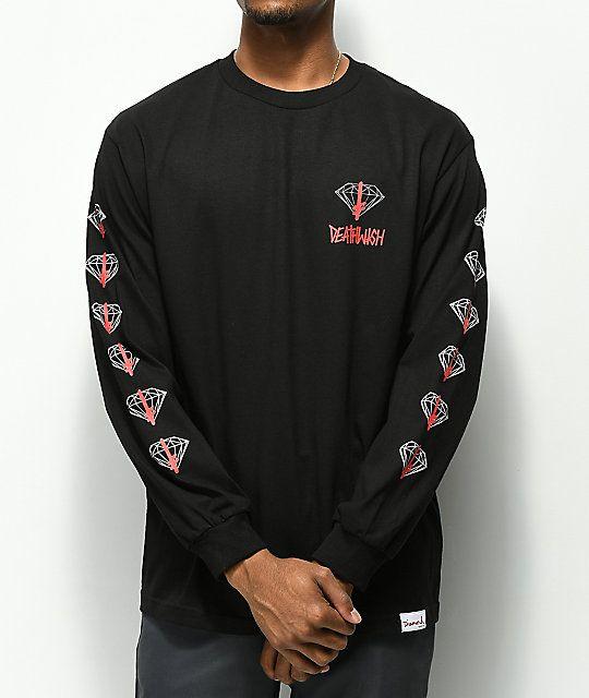 d90909bbc7 Diamond Supply Co. x Deathwish Black Long Sleeve T-Shirt | For him ...