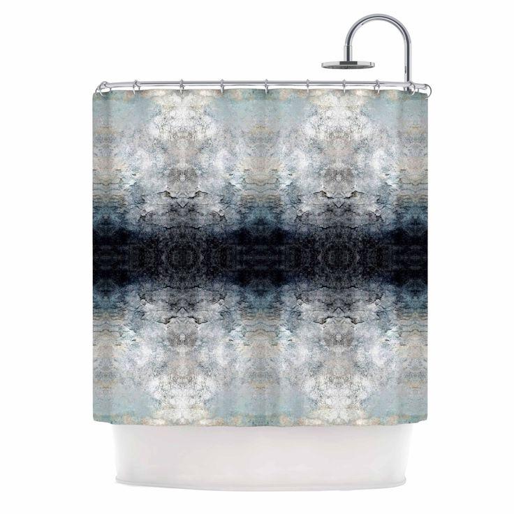 Kess InHouse Pia Schneider Heavenly ion L Blue Digital Shower Curtain