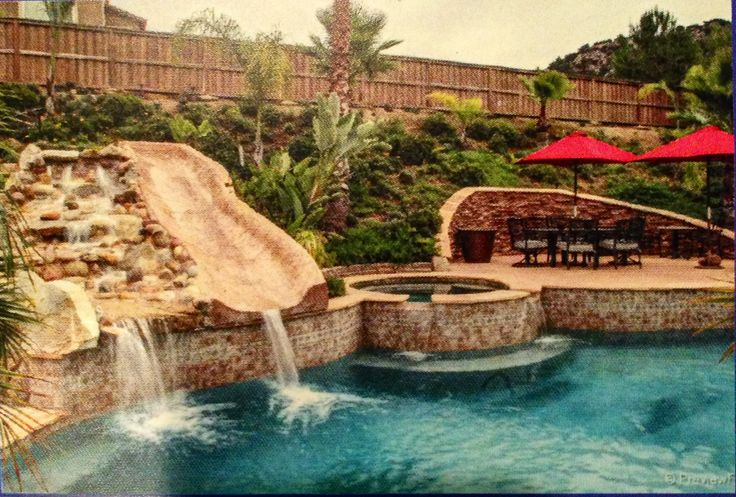Pool, Waterslide, Hot Tub; Landscape Design