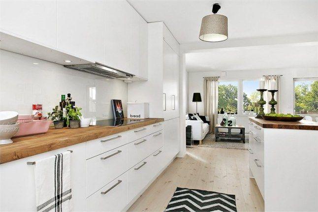 Cuisine blanche et bois id es pour la maison - Cuisine blanche et bois ...