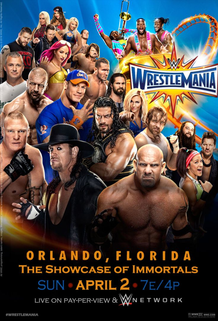 WWE Wrestlemania 33 Official Poster by Jahar145 on @DeviantArt