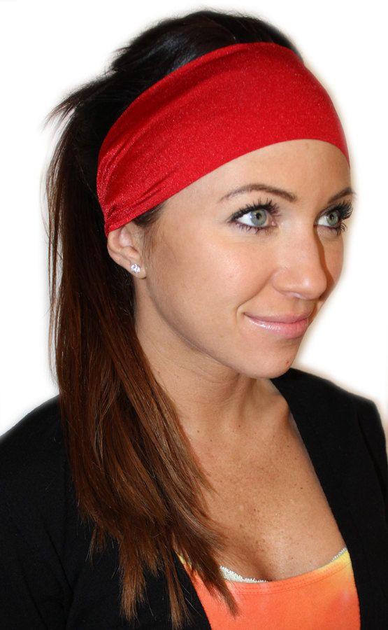 Manda Bee's Luscious Yoga Headband in Red Hot by MandaBeeHeadbands