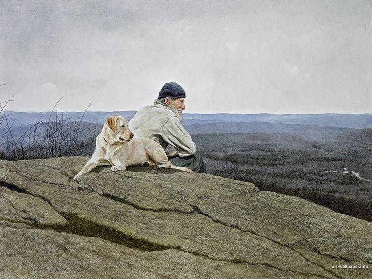 Walking pals?: Andrew-Wyeth