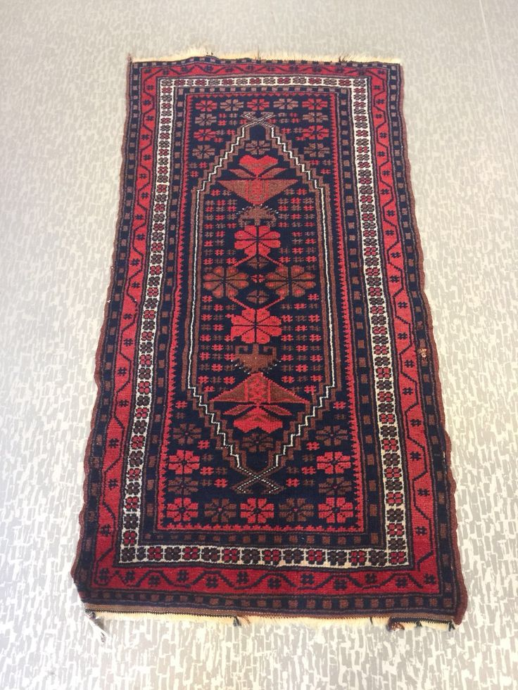 "SMALL TURKISH OUSHAK RUNNER, 120 x 60 cm (47 "" x 23 "" )"