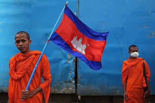 Cambodian Flag - Phnom Penh, Cambodia