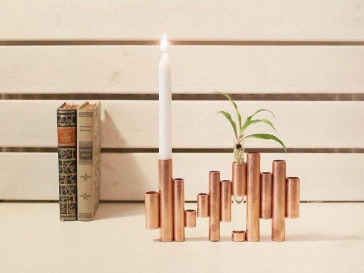 Tutoriel DIY: Fabriquer un chandelier en tuyau de cuivre via DaWanda.com