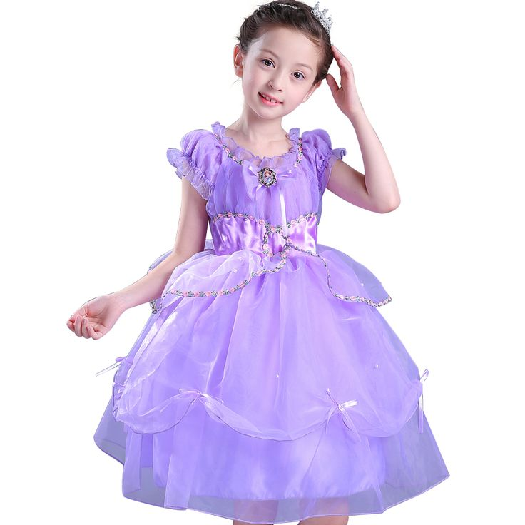 ==> [Free Shipping] Buy Best News princess sofia dress Girl Short Ball Gown formal Dress Costume Girls Kids Birthday Party Fancy Purple Tutu Clothing Online with LOWEST Price | 32818294291