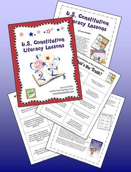 Free literacy lessons for teaching about the U S Constitution