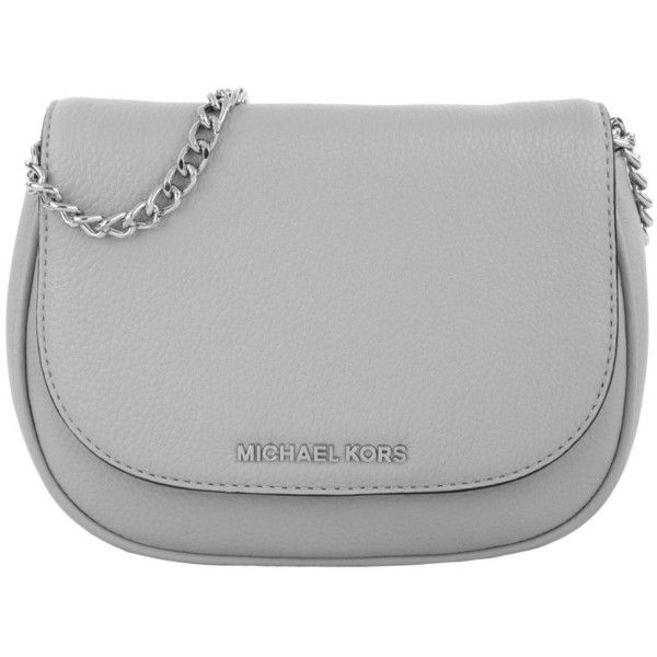 Michael Kors Bedford SM Crossbody Dove Grey in silver, grey, Shoulder... ($150) ❤ liked on Polyvore featuring bags, handbags, shoulder bags, clutches, purse tote, tote handbags, handbags shoulder bags, evening handbags and woven tote