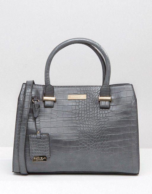 LOW STOCK Carvela Tote Bag In Mock Croc RRP £85 NOW £40 delivered using code MAJOR20 at Asos