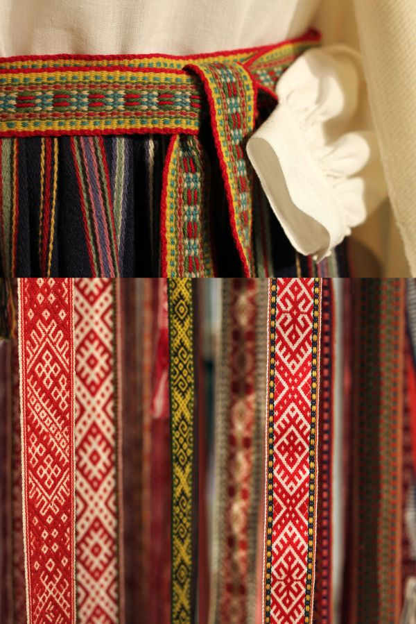 Traditional Latvian belts.