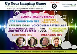 Learning Waves Skillnet is delighted to announce an exciting 2 day workshop with ReelWorld on 16th and 17th February 2017 in Dublin.  The workshop is aimed at those involved in Imaging and Commercial Production across the Independent Radio Sector. Day 1 will be aimed mainly at Imaging Producers and Day 2 will appeal to both imaging producers and also to those involved in commercial production.  So, if you are involved in either of these roles across the sector, this workshop is for you…