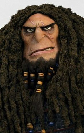 """Drago Bludvist voiced by Djimon Hounsou. First appeared in the 2014 film """"How to Train Your Dragon 2."""""""