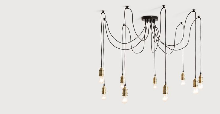 Starkey Chandelier, Brass