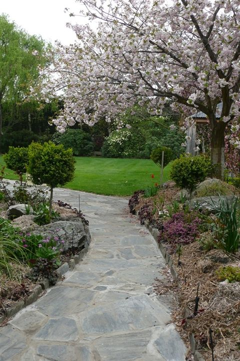 Take your guests through the gorgeous gardens of your venue.