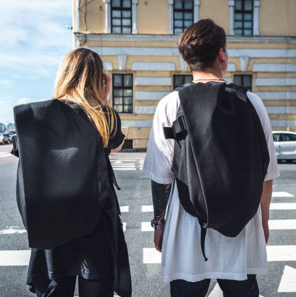 They say couples that play together stay together. Embarking for a day's adventure in St Petersburg, complete with matching Isar rucksacks from côte&ciel. Picture courtesy of @glleb shot by @martinidi via Instagram