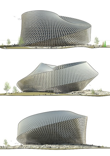 Astana National Library, Astana, Kazakhstan - BIG ANL_Elevations by AMNP, via Flickr