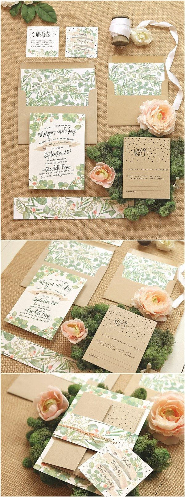 bed bath and beyond wedding invitation kits%0A    Chic Wedding Invitations found on Etsy
