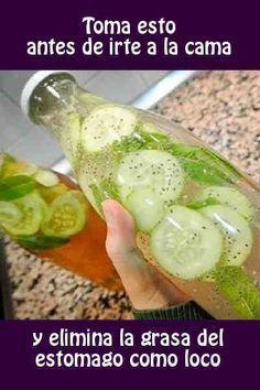 Ingredientes: + 1/3 de taza de agua + 1 trozo de raíz de jengibre + Un pepino + Un manojo de perejil + Medio limón