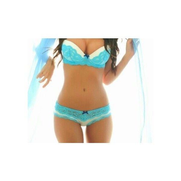 Cute matching bra and panties! Want Rockin' style ❤ liked on Polyvore featuring intimates, underwear, undergarments, lingerie, body, other and blue lingerie