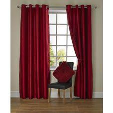 Wilko Curtain Silk Fx Red 117X137cm