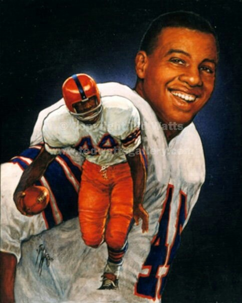 Ernie Davis - Syracuse (1961), first African-American to win the Heisman Trophy. He was the first pick in the NFL draft by the Washington Redskins, but Redskins owner, George Preston Marshall, was a notorious racist and traded him to the Cleveland Browns. Sadly, he contracted leukemia and never played a single down for the Browns. He died in 1963.