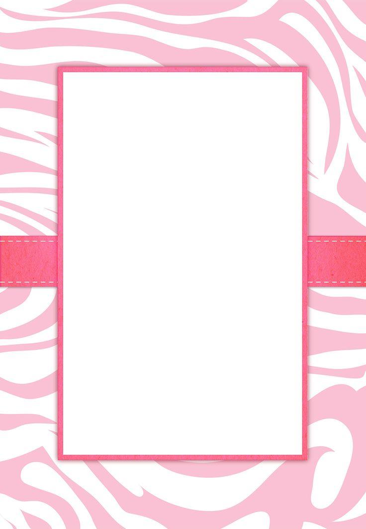 Free Printable Pink Zebra Stripes Invitation