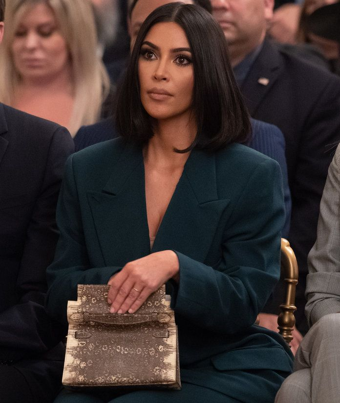 Kim Kardashian Is Back At The White House In A Very Good Suit