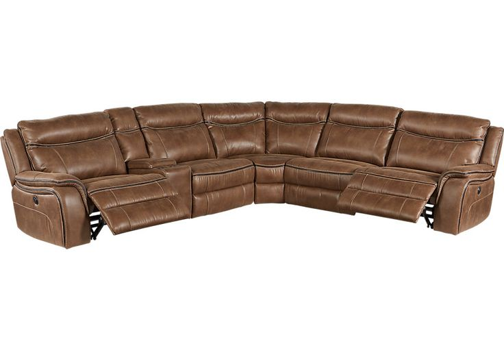 Cindy Crawford Home Barton Springs Brown 6 Pc Sectional   .2199.99. 137.5W x 123.5D x 40H. Find affordable Sectional Living Rooms for your home that will complement the rest of your furniture.  #iSofa #roomstogo