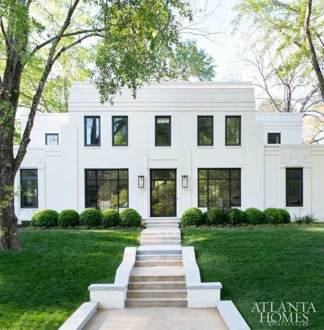 Ul Art Deco Revival House Featured In The Current Atlanta Homes Lifestyles Built In The Evans Cucich House Is Named After Its Former Owners And Was